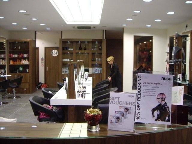 Hair salon sparkle clean
