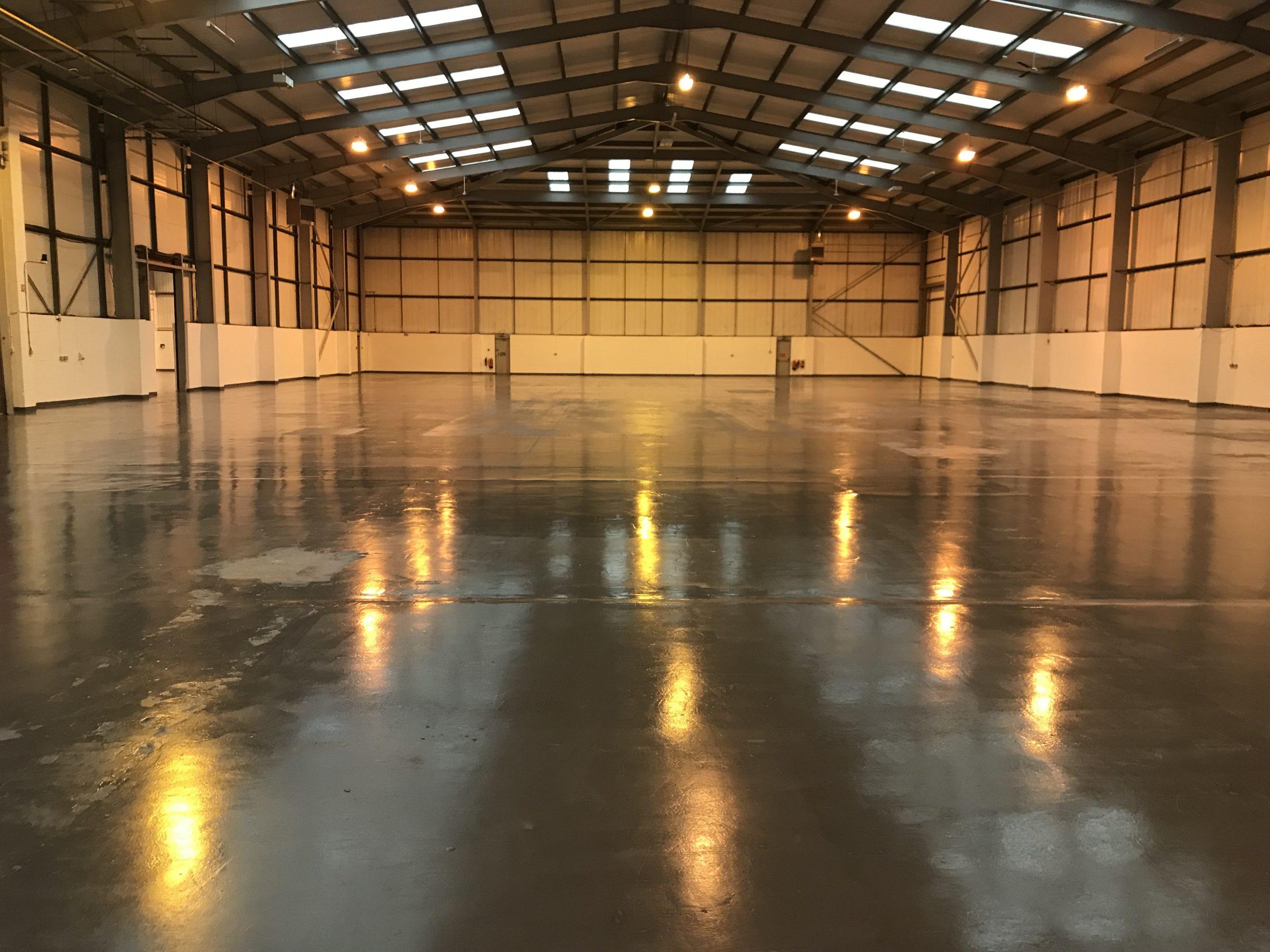 factory floor deep clean